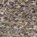 Paillage de bois torréfié
